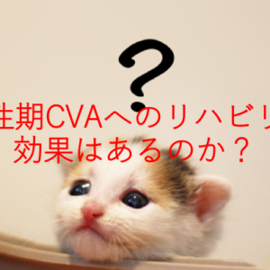 慢性期CVAへのリハビリの効果はあるのか?